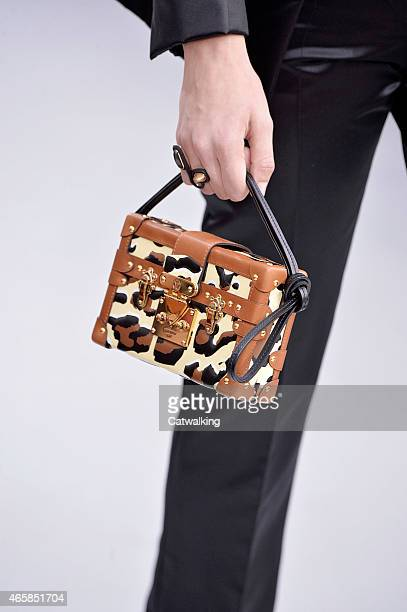 Accessories bag detail on the runway at the Louis Vuitton Autumn Winter 2015 fashion show during Paris Fashion Week on March 11, 2015 in Paris,...