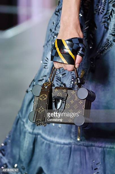 Accessories bag detail on the runway at the Louis Vuitton Spring Summer 2016 fashion show during Paris Fashion Week on October 7 2015 in Paris France