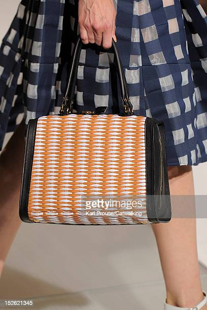Accessories bag detail on the runway at the Marni Spring Summer 2013 fashion show during Milan Fashion Week on September 23, 2012 in Milan, Italy.
