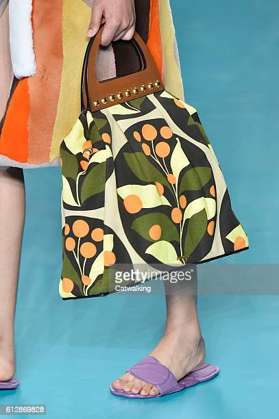 Accessories bag detail on the runway at the Miu Miu Spring Summer 2017 fashion show during Paris Fashion Week on October 5 2016 in Paris France