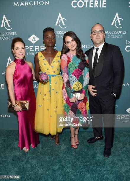 Accessories Council President Karen Giberson Lupita Nyong'o Micaela Erlanger and Accessories Council Chairman Frank Zambrelli attend the 22nd Annual...