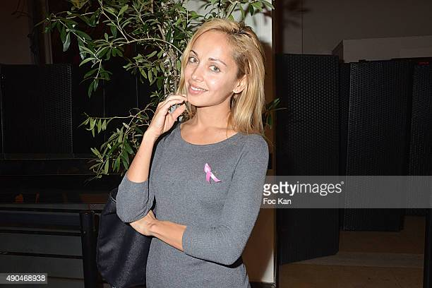 Accessories designer Angelina Ober from Sasha Berry attends the 'Octobre Rose 2015' Party To Benefit Breast Cancer Research hosted by Estee Lauder At...