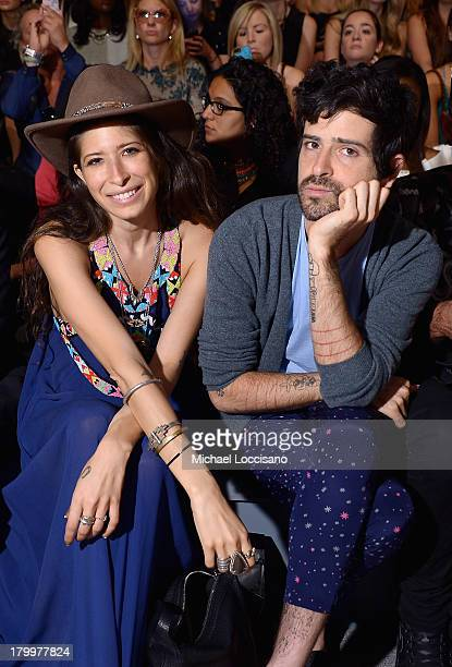 Accessories Designer Pamela Love attends the Mara Hoffman fashion show during MercedesBenz Fashion Week Spring 2014 at The Stage at Lincoln Center on...