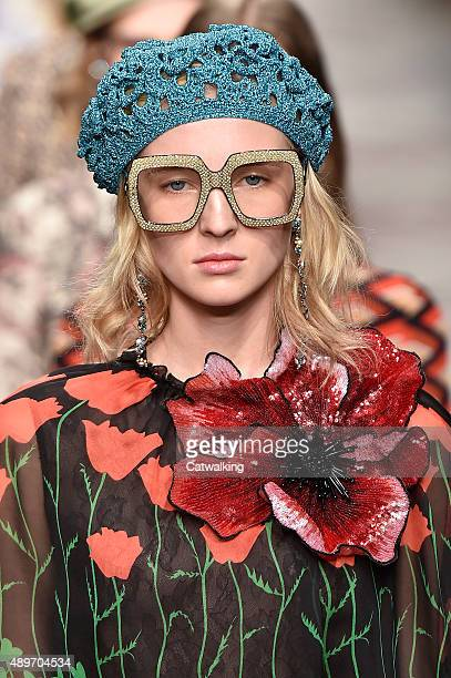 Accessories detail on the runway at the Gucci Spring Summer 2016 fashion show during Milan Fashion Week on September 23 2015 in Milan Italy