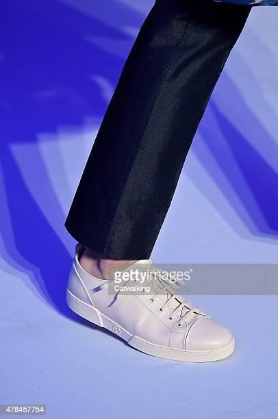 Accessories footwear detail on the runway at the Louis Vuitton Spring Summer 2016 fashion show during Paris Menswear Fashion Week on June 25 2015 in...