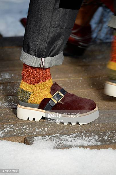 Accessories footwear detail on the runway at the Tommy Hilfiger Autumn Winter 2014 fashion show during New York Fashion Week on February 10 2014 in...