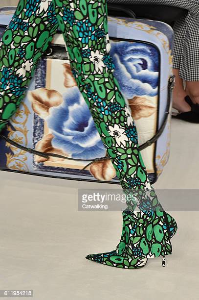 Accessories shoe and bag detail on the runway at the Balenciaga Spring Summer 2017 fashion show during Paris Fashion Week on October 2 2016 in Paris...