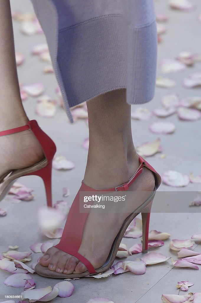 Accessories shoe detail on the runway at the Burberry Prorsum Spring Summer 2014 fashion show during London Fashion Week on September 16, 2013 in London, United Kingdom.