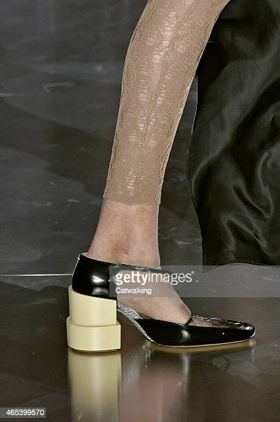 Accessories shoe detail on the runway at the Maison Margiela Autumn Winter 2015 fashion show during Paris Fashion Week on March 6 2015 in Paris France