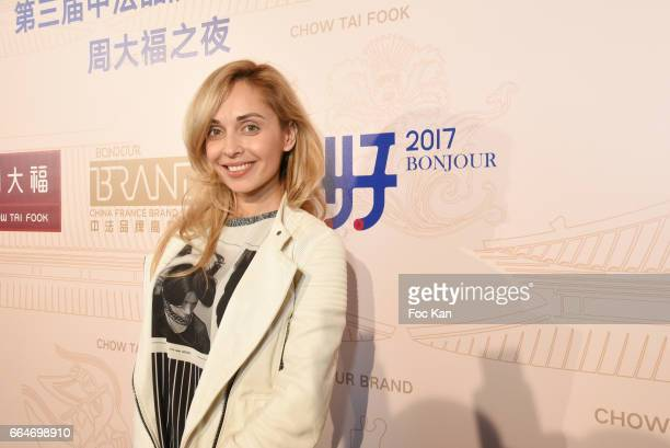 Accessories/scarves designer Angelina Ober attends the Chow Tai Fook Jewellry Show Hosted by Bonjour Brand Shangai at ShangriLa Iena on April 4 2017...