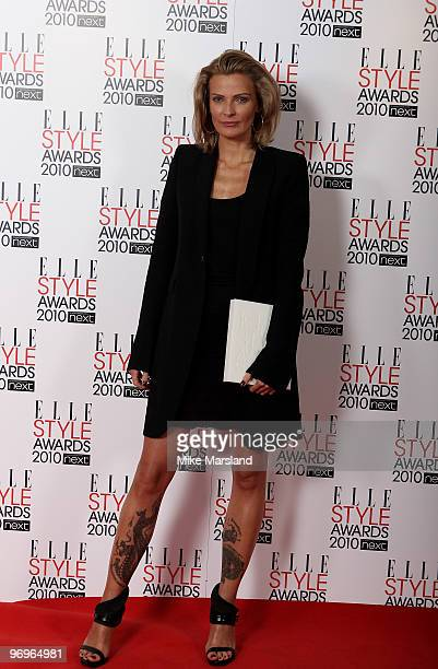 Accessory Designer winner Camilla Scovgaard poses in the Winner's room at the ELLE Style Awards 2010 at the Grand Connaught Rooms on February 22,...