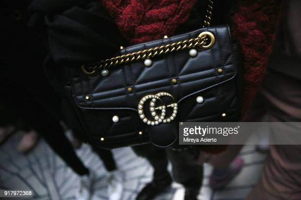Accessory detail backstage at the Calvin Luo fashion show during New York Fashion Week on February 13 2018 in New York City