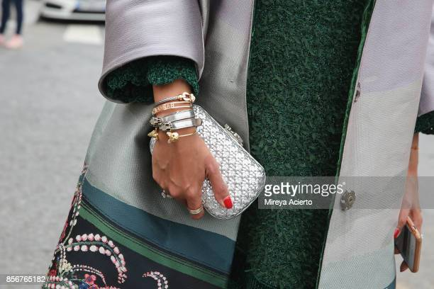 Accessory detail seen during Paris Fashion Week Womenswear Spring/Summer 2018 on October 2 2017 in Paris France
