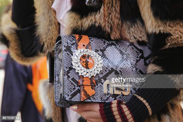 Accessory detail seen during Paris Fashion Week Womenswear Spring/Summer 2018 on October 3 2017 in Paris France