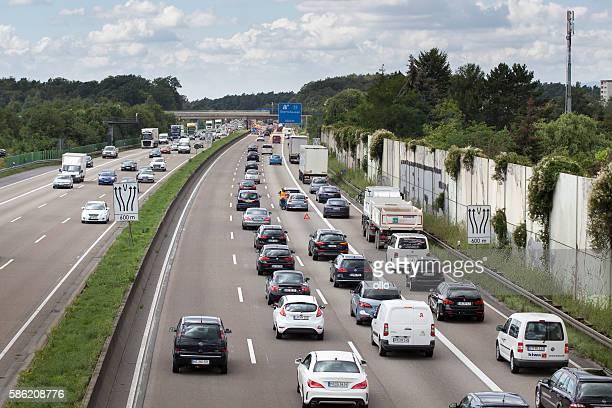 Accident german highway road block