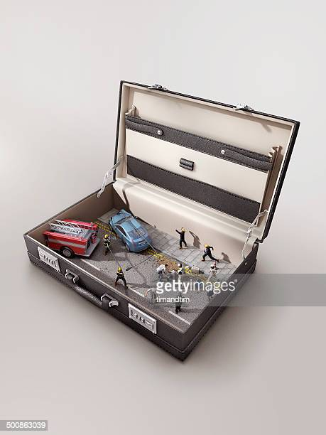 Accident in a suitcase