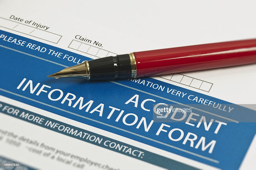 Accident Information Form : Stock Photo