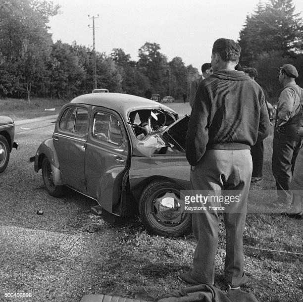 Accident mortel sur la Nationale 7 en ce weekend de la Pentecote le 3 mai 1956 en France