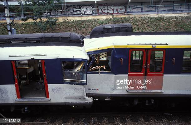 Accident of RER in Vincennes 30 wounded people in Vincennes France on July 27 1992