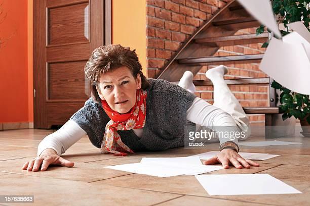 Accidente en escaleras en su casa