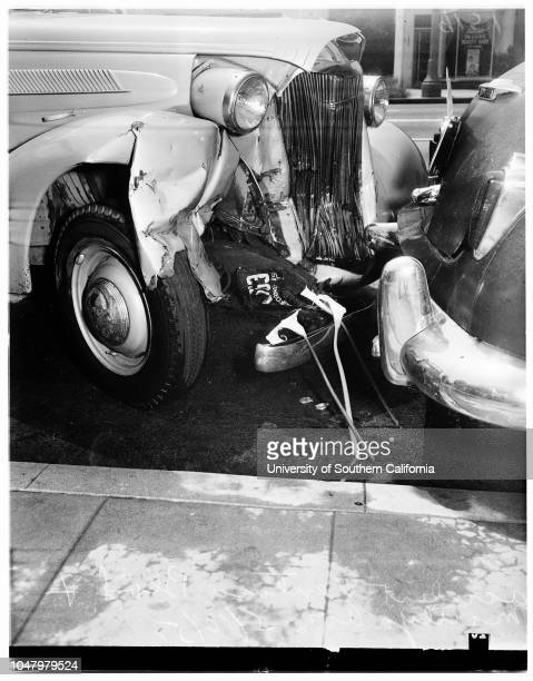 Accident on Ventura Boulevard and Matilija Avenue May 10 1951 Mrs Augusta Vetter 65 years More descriptive information with originalsVentura...