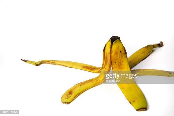 acidente espera para acontecer - casca de banana - fotografias e filmes do acervo