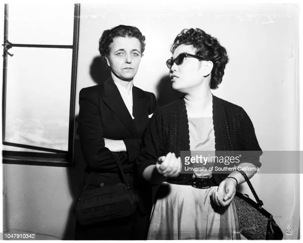 Accidental death 21 May 1958 Mrs Janina Brukiewicz Mutsue Brukiewicz Henry EricksonCatherine EricksonCaption slip reads 'Photographer Mitchell Date...