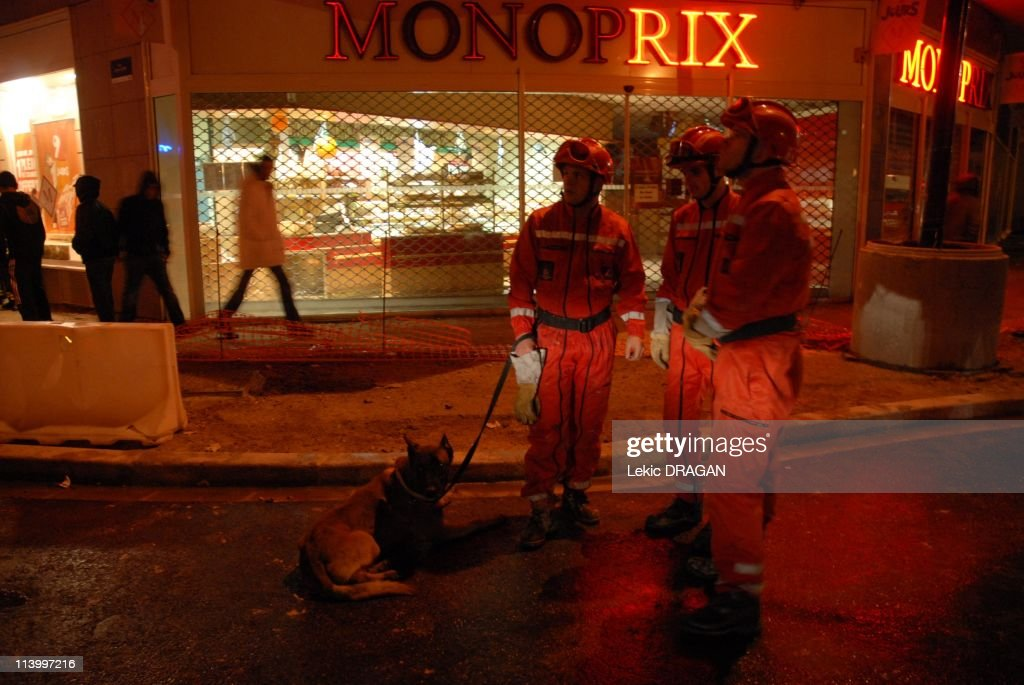 Accidental explosion In Bondy, France On October 30, 2007-