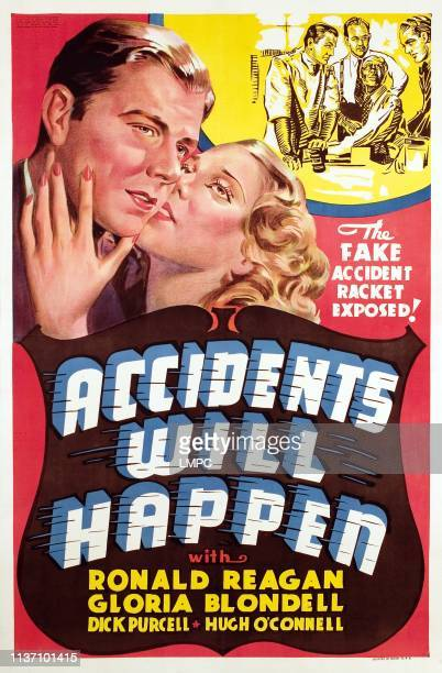 Accidents Will Happen poster Ronald Reagan Gloria Blondell 1938