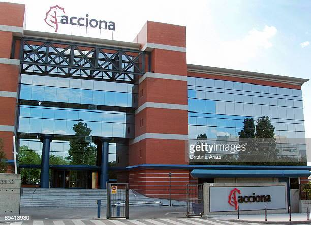 Acciona SA is a Spanish conglomerate group dedicated to civil engineering construction and infrastructures Headquarter in Alcobendas Madrid Junio...