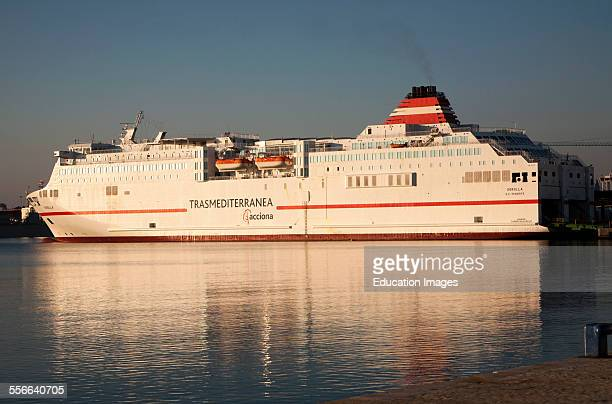 Acciona Trasmediterranea ferry ship Sorolla in the port of Malaga Spain