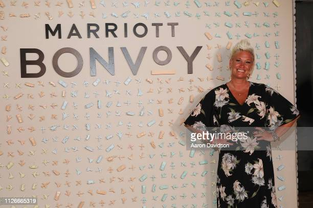 Acclaimed chef Anne Burrell attends the WME Chef Kickoff party presented by Marriott Bonvoy the new name of Marriott's travel program at the Food...