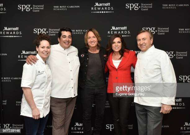 Acclaimed chefs Stephanie Izard and Jose Garces singersongwriter Keith Urban Sportscaster Michele Tafoya and acclaimed chef Daniel Boulud at the...