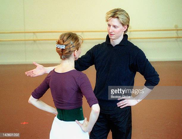 Acclaimed dancer Ethan Stiefel right will be dancing with the Boston Ballet He is shown here in rehearsal for Mozartiana with Larissa Ponomarenko