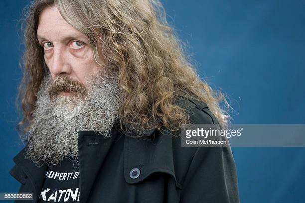 Acclaimed English comic book writer Alan Moore pictured at the Edinburgh International Book Festival where he talked about his latest work The...