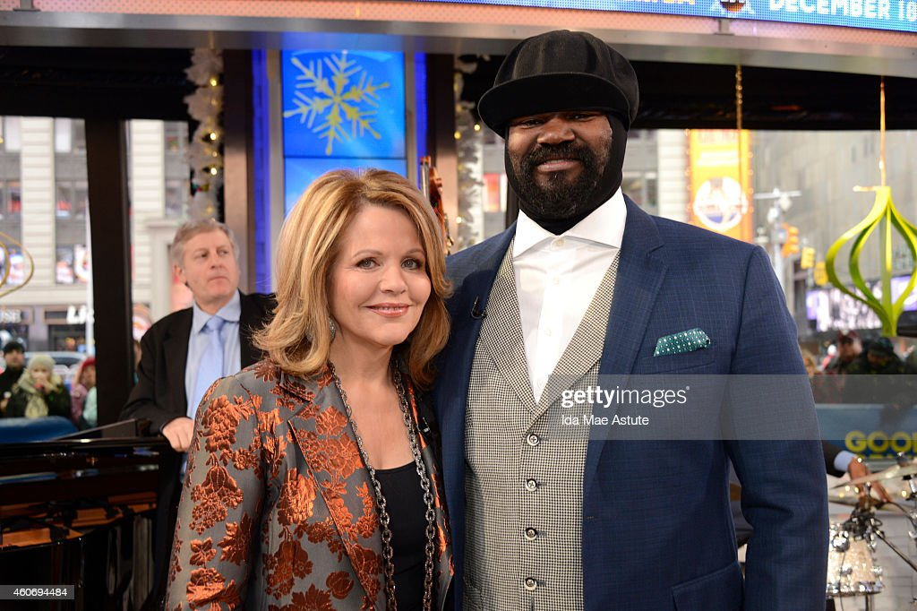 AMERICA - Acclaimed soprano, Renee Fleming is joined by Gregory Porter for a duet on GOOD MORNING AMERICA, 12/18/14, airing on the ABC Television Network.