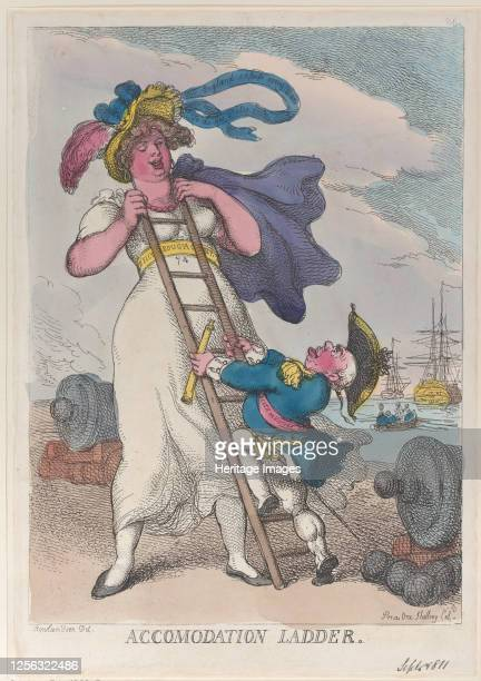 Accomodation Ladder, September 1, 1811. Artist Thomas Rowlandson.