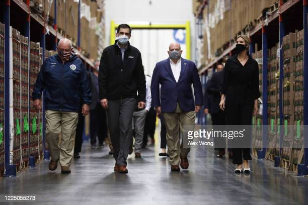 Accompanied by CEO John Corso , U.S. Agriculture Secretary Sonny Perdue, Maryland Governor Larry Hogan, and Ivanka Trump, first daughter and adviser...