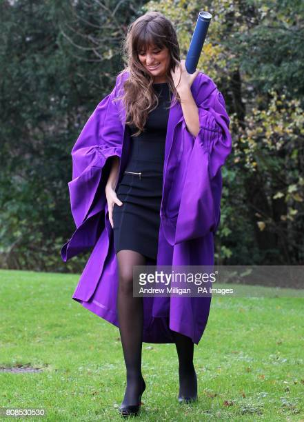 Accomplished violinist Nicola Benedetti during a photocall after she received a Doctorate of Letters at HeriotWatt University Edinburgh in...
