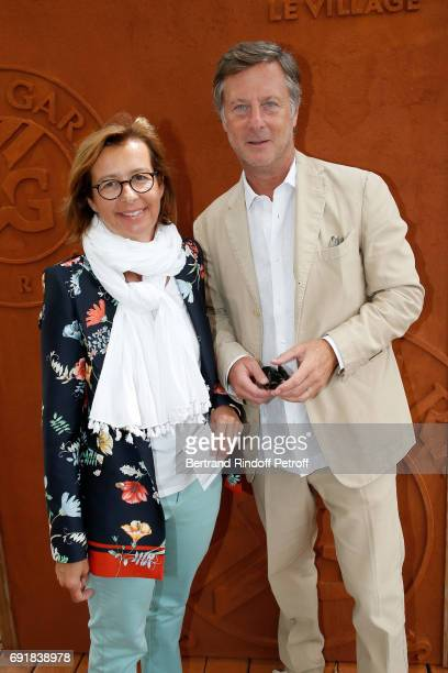 Accor Sebastien Bazin and guest attend the 2017 French Tennis Open Day Seven at Roland Garros on June 3 2017 in Paris France