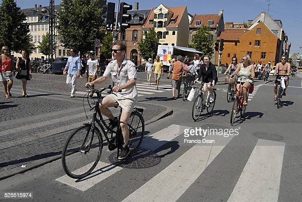 According to new media report 20 % danes use bike as transportation daily though on hot day 30 C warmsummer day d 25 July 2012