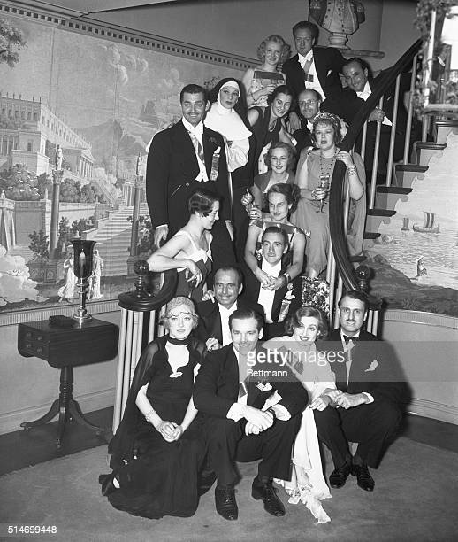 According to rows starting from frontMiss Marion Davies Douglas Fairbanks Jr Carole Lombard and Prince Serge Obelenski 2Douglas Fairbanks Sr 3d...