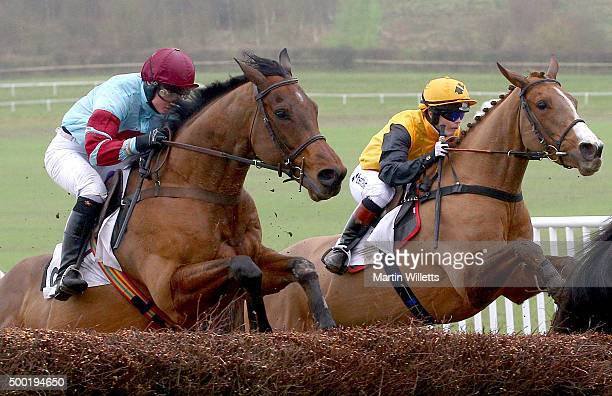 According to Sarah ridden by Victoria Pendleton takes a jump at Barbury Racecourse on December 6 2015 in Barbury England