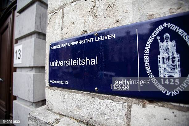 According to Thomson Reuters the KU Leuven is the most innovative university in the world. Illustration picture shows the university hall of the KU...