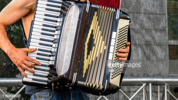 accordion player - accordionist stock pictures, royalty-free photos & images