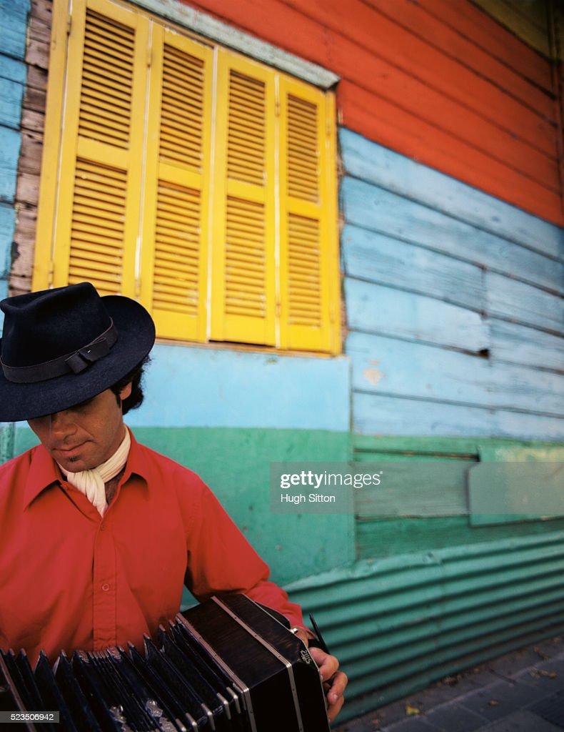 Accordion Player : Stock Photo