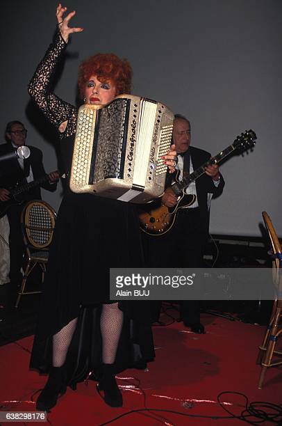 Accordion player Yvette Horner at the AIDS tribute party in Paris France on June 14 1994