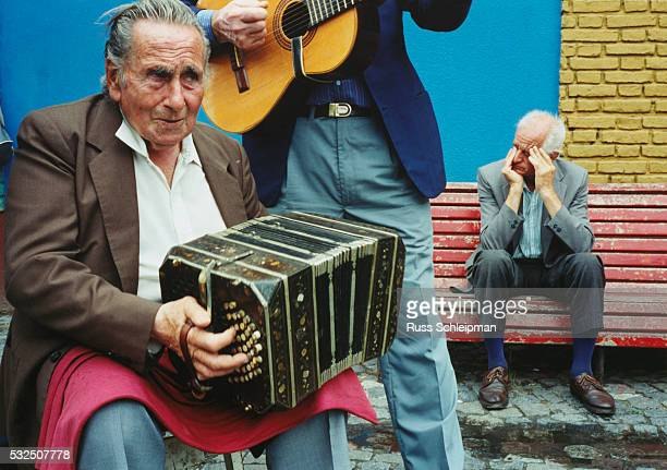 accordionist and guitarist playing - accordionist stock pictures, royalty-free photos & images