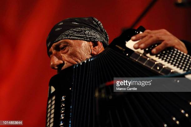 Accordionist Antonello Salis, during a concert at Pomigliano Jazz Festival.