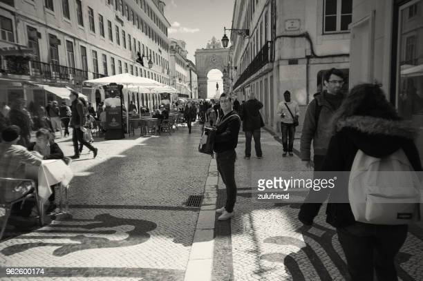 accordionist in lisbon - accordionist stock pictures, royalty-free photos & images